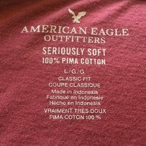 American Eagle Outfitters Shirts - Maroon shirt sleeve  from American Eagle.